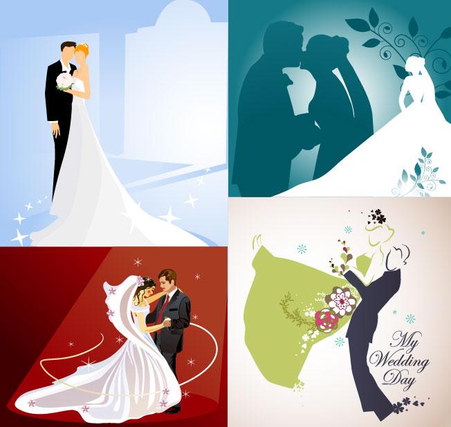 свадьба векторный клипарт: